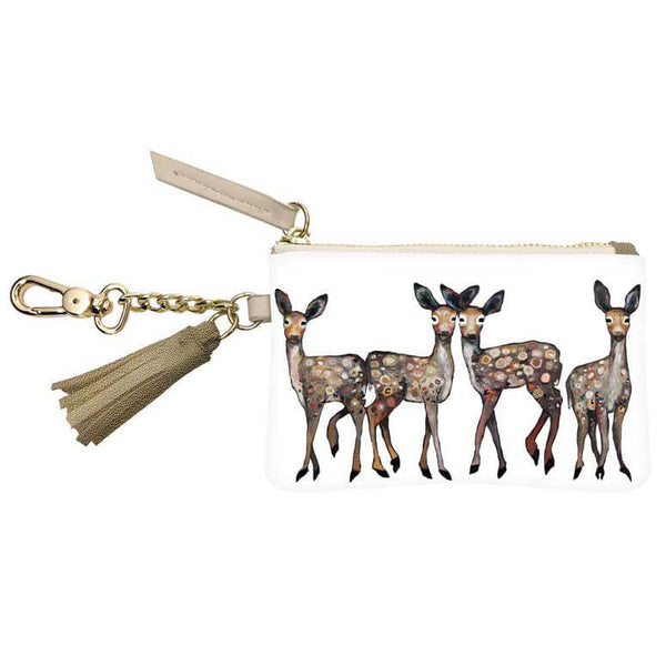 Dancing Deer Zippered Key Pouch