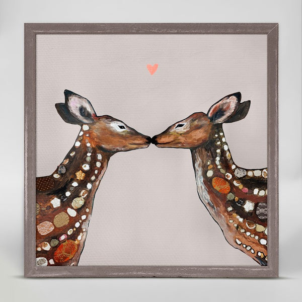 "Deer Love Heart Mini Print 6"" x 6"""