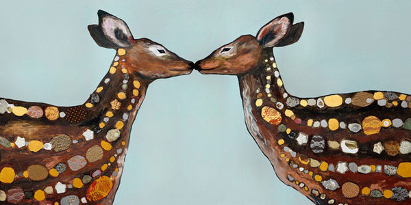 Deer Love Metallic Embellished - Giclée Print