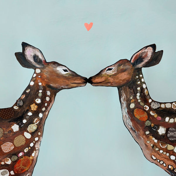 Deer Love Heart - Giclée Print