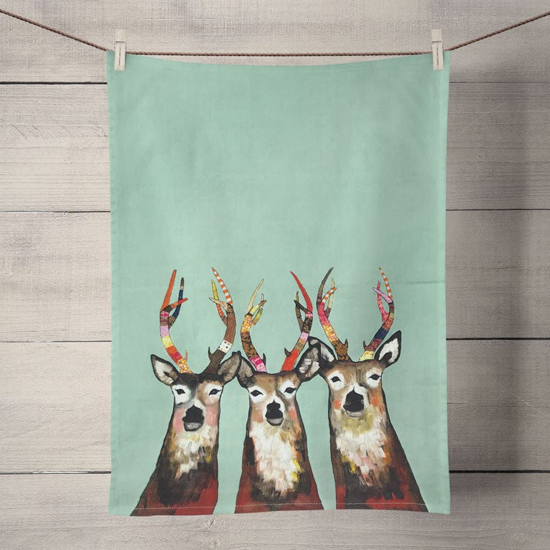 Fancy Deer Tea Towel