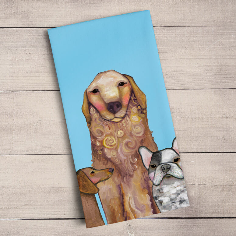 Dogs Dogs Dogs Muffins Tea Towel