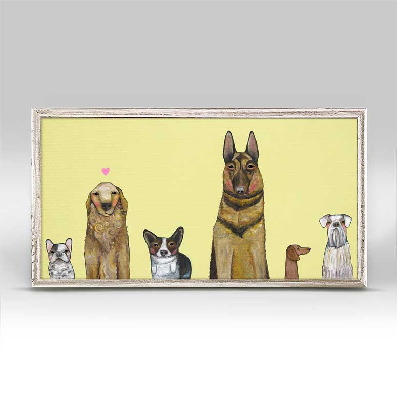 "Dogs Dogs Dogs Mini Print 10"" x 5"""