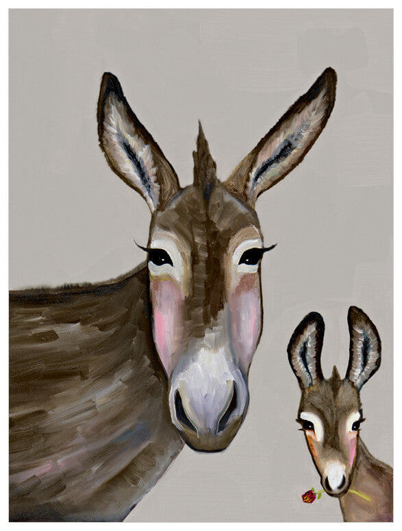 Donkey and Baby - Giclée Print