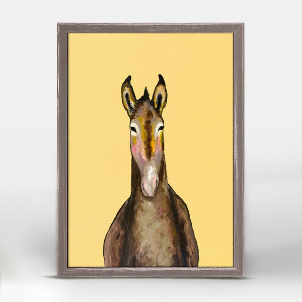 "Donkey in Yellow Mini Print 5"" x 7"""