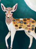 Fallow Deer Family - Oil Painting SOLD