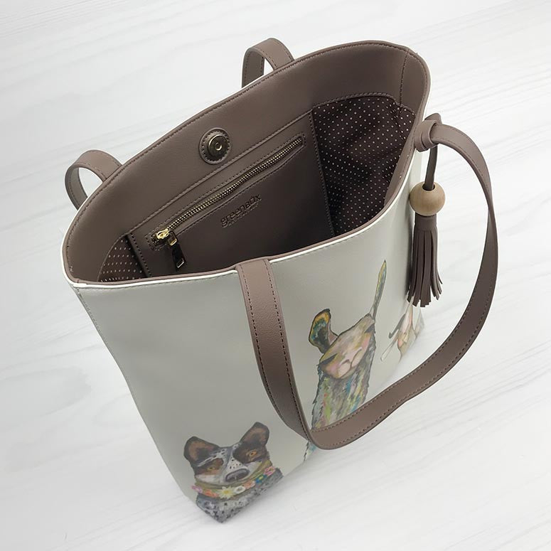 Farm Friends Vegan Leather Tote Bag