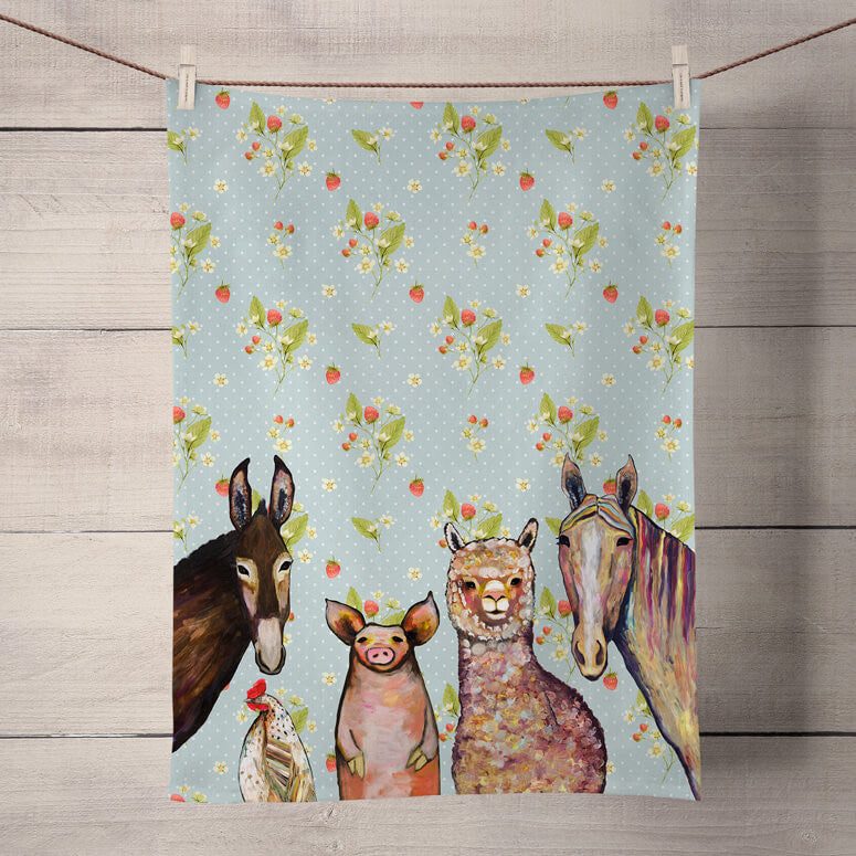 Farm Pals Muffins Tea Towel