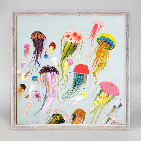 "Floating Jellyfish Mini Print 6"" x 6"""
