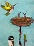 Flutter and Perch - SOLD Oil Painting