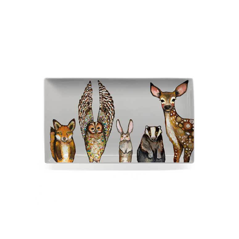 Forest Animals Medium Platter