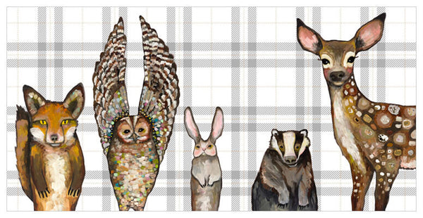 Forest Animals Plaid - Signed Giclée Print