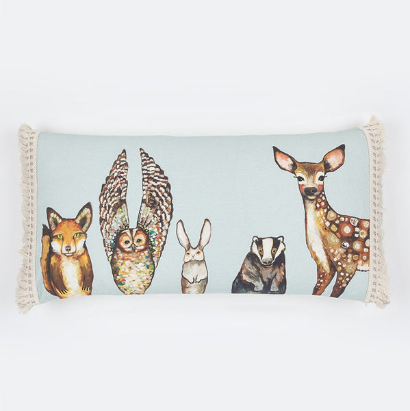 "Forest Animals - Pillow 28"" x 14"""