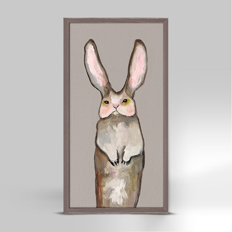"Forest Bunny on Taupe Mini Print 5"" x 10"""