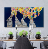 Four Wolves Howling  - Giclée Print