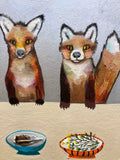 Fox Familia - SOLD Oil Painting
