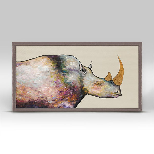 "Giant Rhinoceros - Cream Mini Print 10"" x 5"""