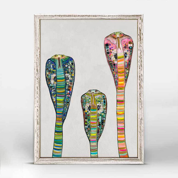 "Glass Cobras on Soft Pewter Mini Print 5"" x 7"""