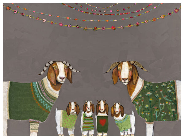 Goats in Sweaters - Signed Giclée Print
