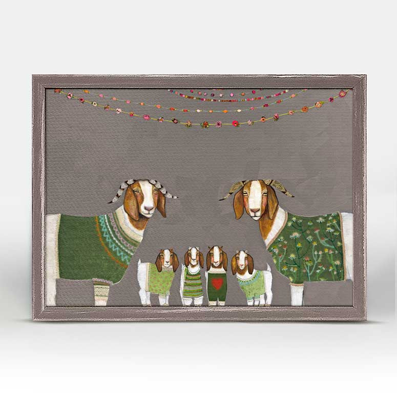 "Goats in Sweaters Mini Print 7"" x 5"""
