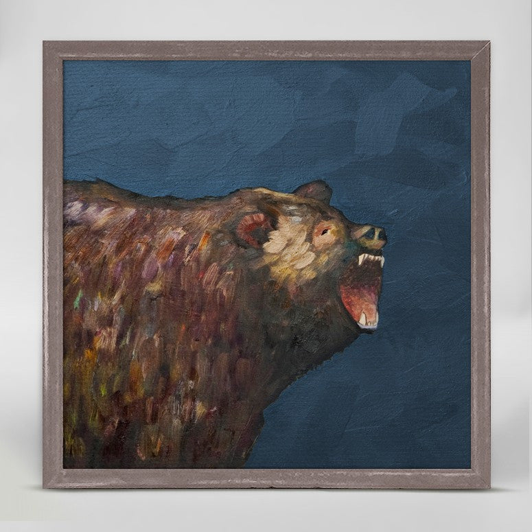 "Grizzly Roar Mini Print 6"" x 6"""