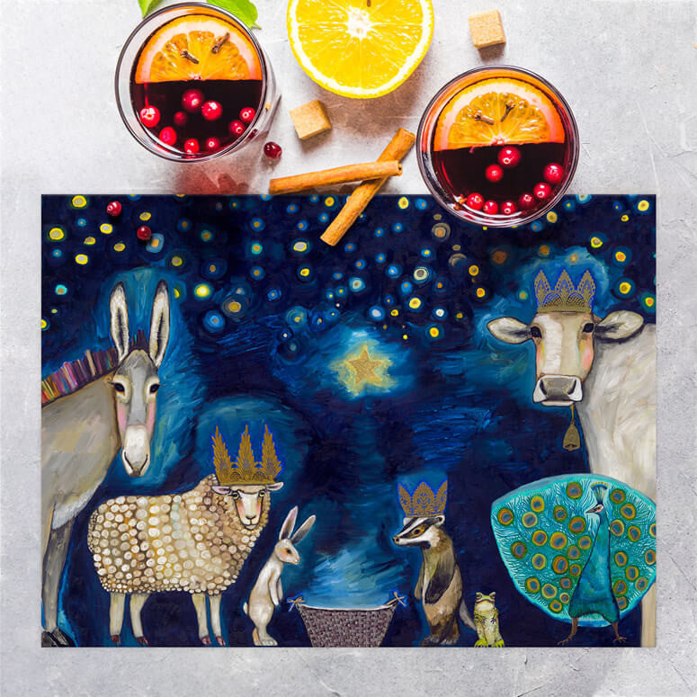 "Animal Nativity Placemat 19"" x 14"""