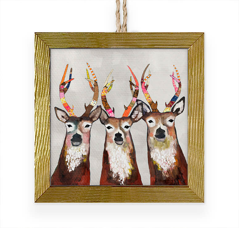 Designer Deer Embellished Ornament