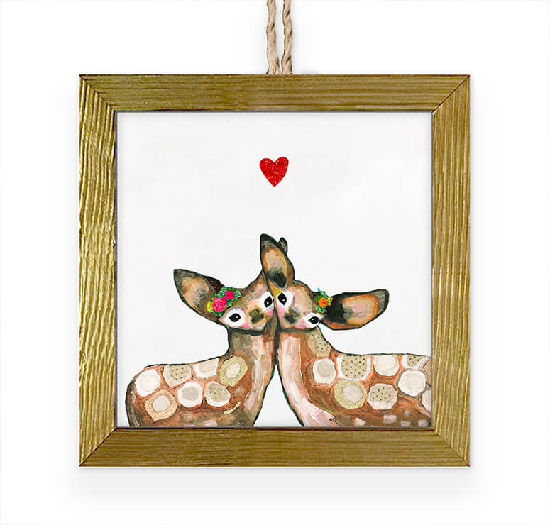 Fawn Love Embellished Ornament