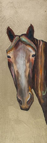 Horse on Gold - Canvas Giclée Print