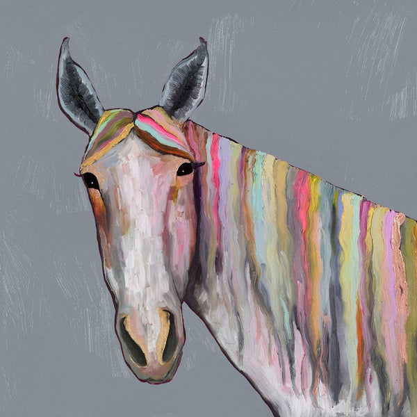 Horse On Gray - Giclée Print