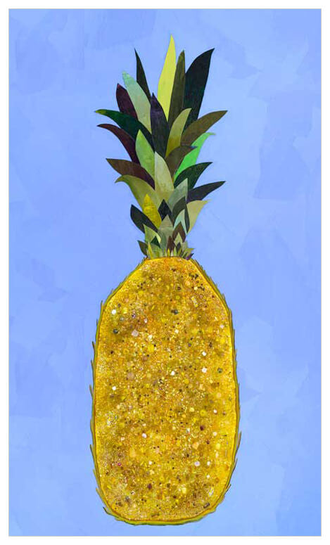 Jeweled Pineapple - Giclée Print