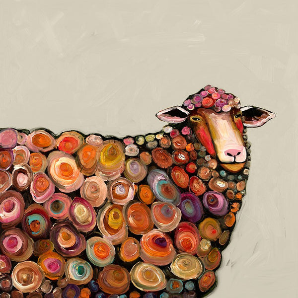 Lamb on Cream - Giclée Print