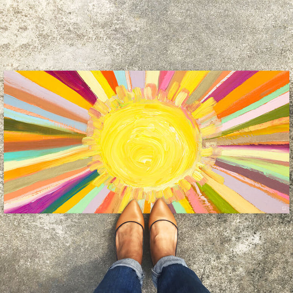 "Little Sunshine Floorcloth 40"" x 20"""