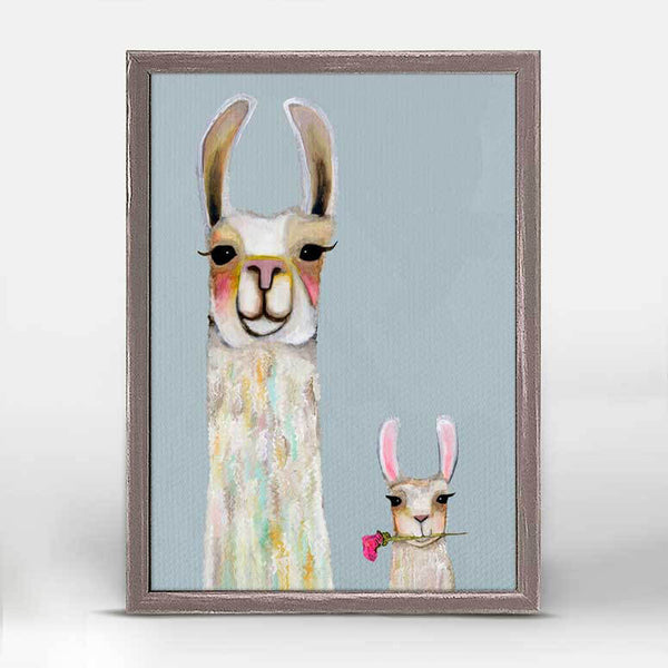 "Llama and Baby Mini Print 5"" x 7"""