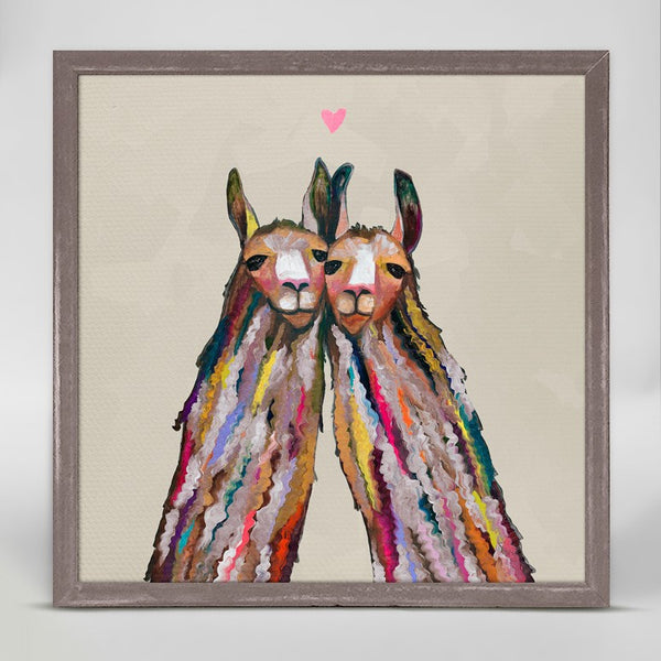 "Llama Love - Neutral Mini Print 6"" x 6"""