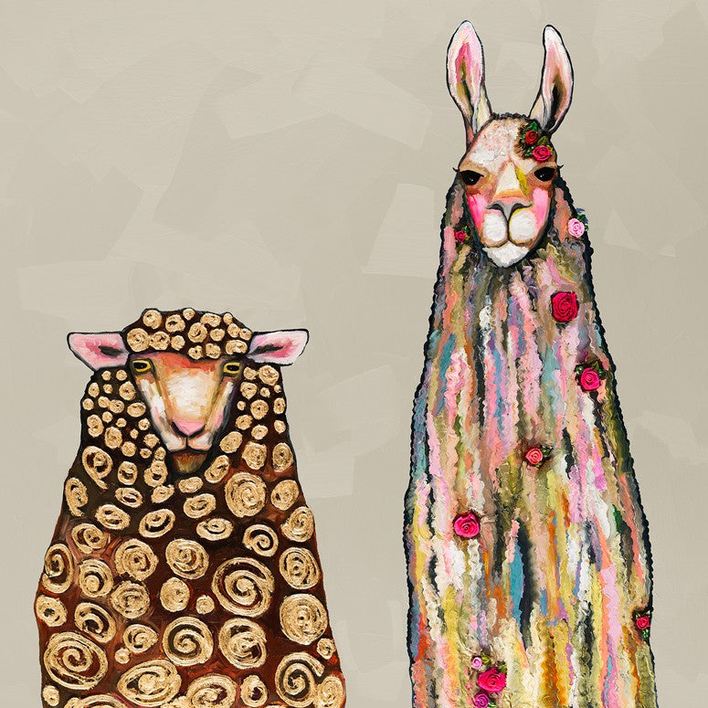 Llama Loves Sheep - Giclée Print
