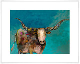Longhorn Geode with Tail - Giclée Print
