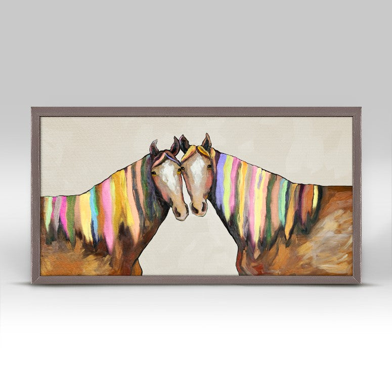 "Manes of Color on Cream Mini Print 10"" x 5"""