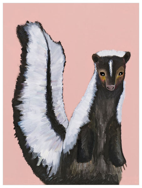 Miss Skunk on Blush - Giclée Print
