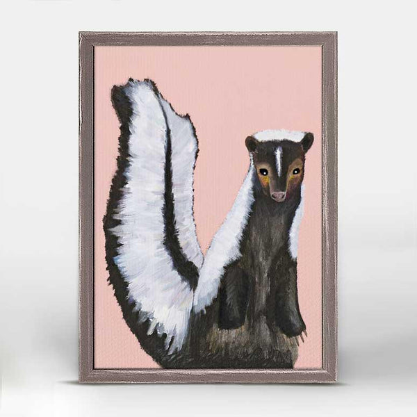 "Miss Skunk on Blush Mini Print 5"" x 7"""