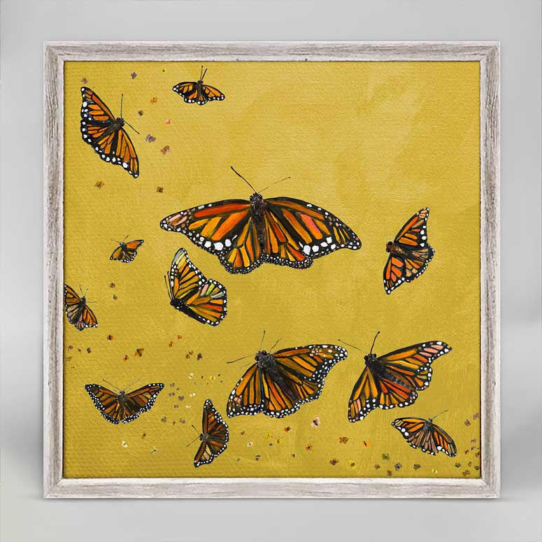 "Monarchs in Gold Mini Print 6"" x 6"""