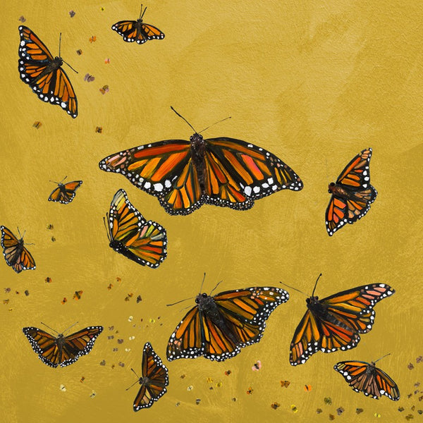 Monarchs in Gold - Giclée Print