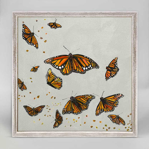 "Monarchs in Silver Mini Print 6"" x 6"""