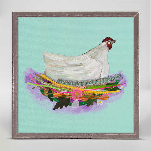 "White Hen Mini Print 6"" x 6"""
