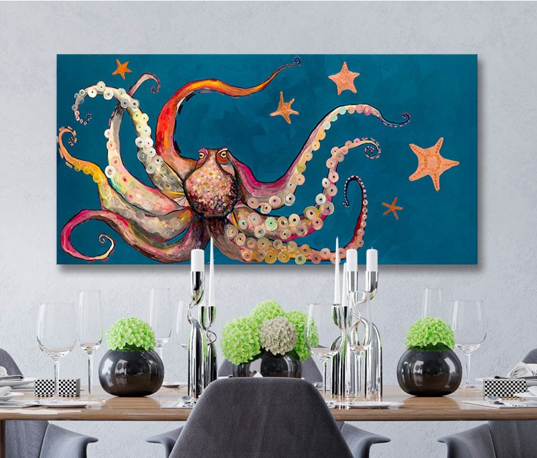 Octopus and Starfish - Giclée Print