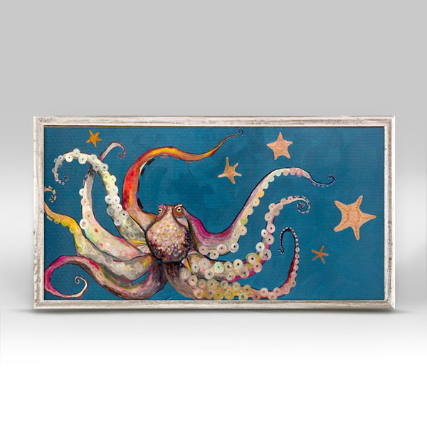"Octopus and Starfish Mini Print 10"" x 5"""