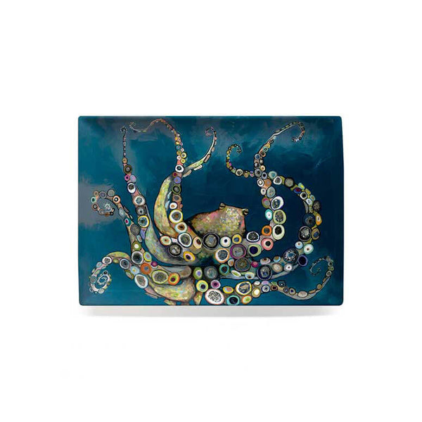 Octopus in the Deep Blue Sea Decorative Dish