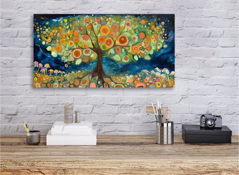 Orange Tree Landscape - Giclée Print
