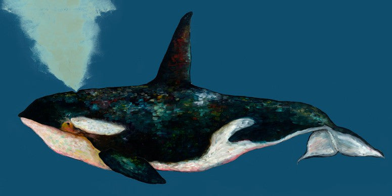 Orca on Deep Blue- Giclée Print