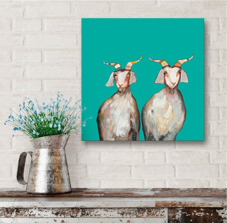 Pair of Goats - Giclée Print